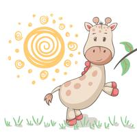 Simpatici animali della giraffa Idea per t-shirt stampata. vettore