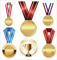 medaglie d'oro vettore