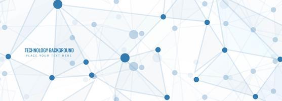 Fondo blu astratto dell'intestazione di tecnologia del poligono