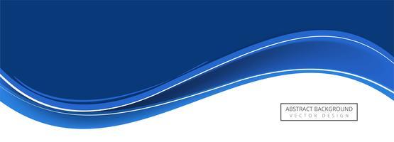 Disegno astratto banner onda blu
