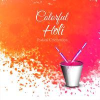 Festival di colori felice holi celebrazione carta vettoriale