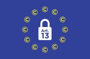 Articolo 13 illustrazione concettuale. vettore