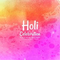 Festa indiana Happy Holi celebrazioni con colori vettore
