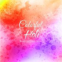 Festeggia il festival colorato Holi sfondo vettore