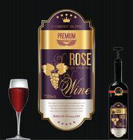 Etichetta di lusso vino d'oro vettore