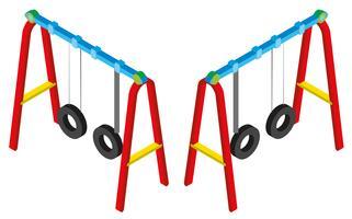 Design 3D per altalene vettore