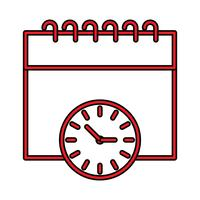 Calendario icona perfetta Vector o Pigtogram Illustration In Filled Style