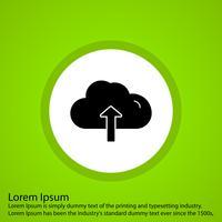 icona di caricamento nube vettoriale