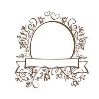 Cornice decorativa e bordi Art con posto per il vostro testo. Illustrazione EPS10 di vettore dell'iscrizione di calligrafia