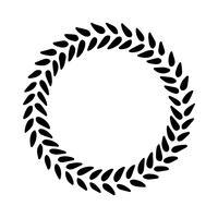 Corona di foglie vintage. vettore