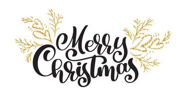 testi scritte a mano di buon Natale scritte calligrafia. illustrazione vettoriale a mano. Tipografia divertente dell'inchiostro del pennello per sovrapposizioni di foto, stampa di t-shirt, flyer, poster design