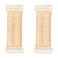 Doodle greco colonne doriche ioniche corinzie. Illustrazione vettoriale Architettura classica