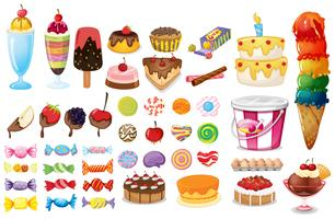 Collezione di dessert vettore