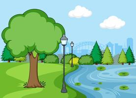 Una scena di parco semplice