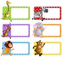 Animali selvatici su tag quadrati