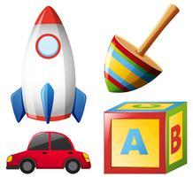 Quattro tipi di giocattoli vettore