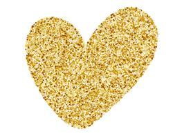Cuore amore oro Elemento di design dorato, Happy Valentines day card, romantico per biglietti di auguri di design, tazza, inviti per le feste, sovrapposizioni di foto, stampa di t-shirt, flyer, poster design, cuscino vettore