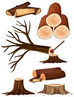 Un processo di taglio dell'albero vettore