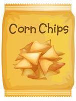 Un pacchetto di chips di mais vettore