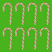 Alta canna di caramella rossa e verde dettagliata, illustrazione di vettore