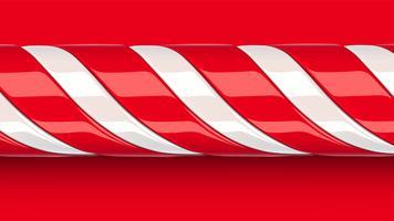 Alta canna di caramella rossa dettagliata, illustrazione di vettore