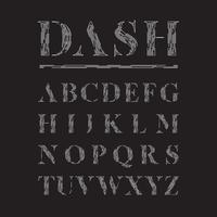 Elegante fontset fatto da linee tratteggiate, illustrazione vettoriale