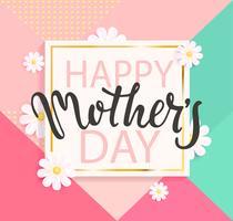Cartolina d'auguri di felice festa della mamma. vettore