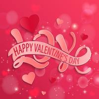 Scheda di disegno felice giorno di San Valentino, vettore.