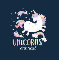 Gli unicorni sono reali. vettore