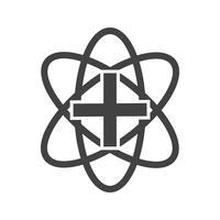 Icona del glifo del segno medico nero