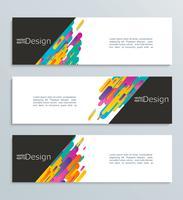Banner Web per la progettazione, modello di intestazione. vettore