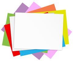 Carte colorate vuote vettore
