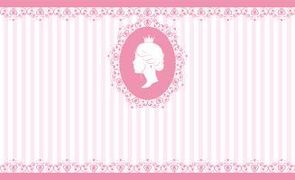 Design vintage sfondo rosa vettore