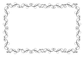 Cornice decorativa e bordi Art. Illustrazione EPS10 di vettore dell'iscrizione di calligrafia