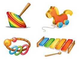 vari giocattoli vettore