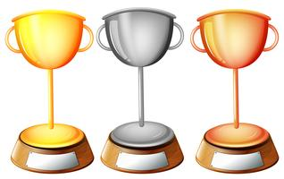 Tre trofei vettore