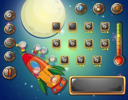 Modello di gioco con tema spaziale vettore
