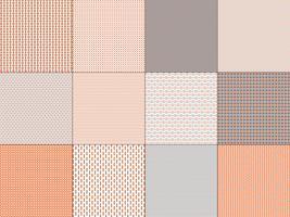 piccoli motivi geometrici grigio-arancio vettore