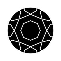 Icona del glifo palla piede nero vettore