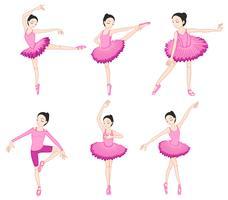 Set da ballerina vettore