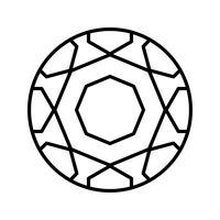 Icona della palla nera vettore
