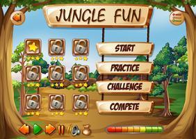 Modello di gioco giungla scimmia vettore