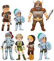 Cavalieri e guerrieri vettore