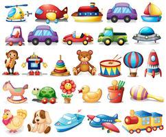 Collezione di giocattoli vettore