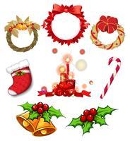 Decorazioni natalizie vettore
