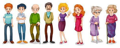 Un gruppo di adulti vettore