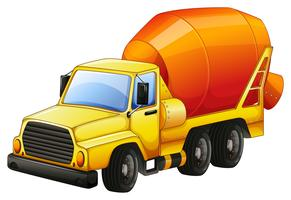 Camion di cemento vettore