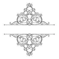 Divisore o cornice in stile retrò calligrafico isolato su sfondo bianco. vettore
