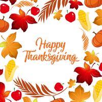 Felice concetto di caduta del ringraziamento