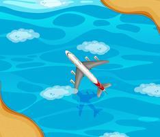 Un aereo che sorvola l'oceano